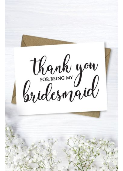 Bridesmaid Thank You Card - Wedding Gifts & Decorations