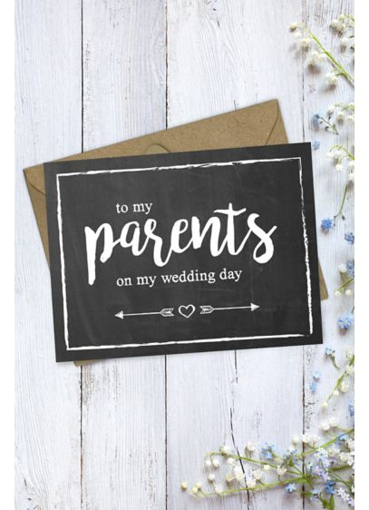 Chalkboard Parents Thank You Card - Tell your mom and dad how much you