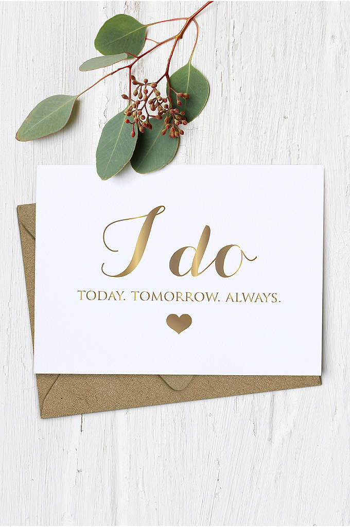 I Do Wedding Card - Want to send sweet note to your beloved