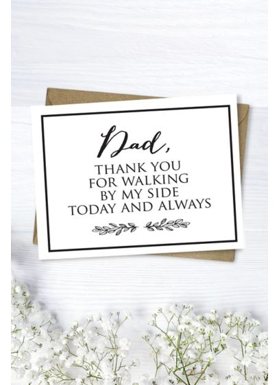 Dad Thank You Card - Wedding Gifts & Decorations
