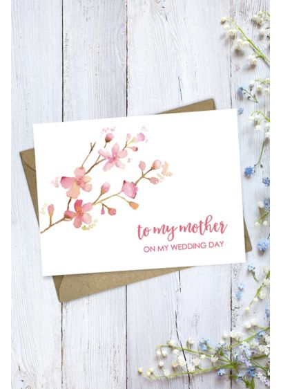 Floral Mother Wedding Day Card - Put pen to beautiful paper on this floral
