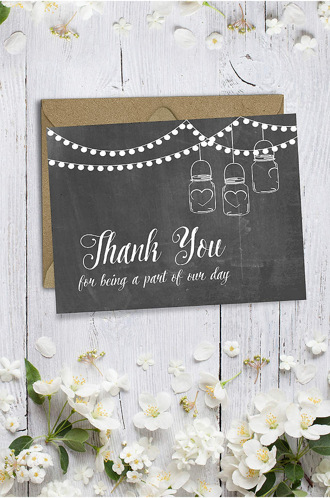 Rustic Wedding Party Thank You Card - Share your appreciation on this thank-you card with