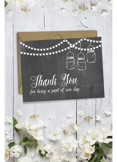 Rustic Wedding Party Thank You Card