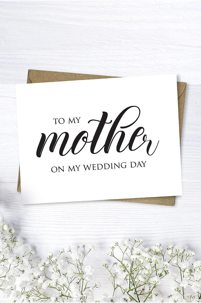 Mother Wedding Day Script Card - Want to write your mother a sweet note