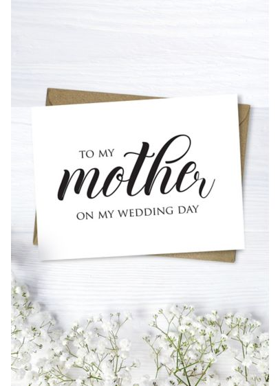 Mother Wedding Day Script Card - Wedding Gifts & Decorations
