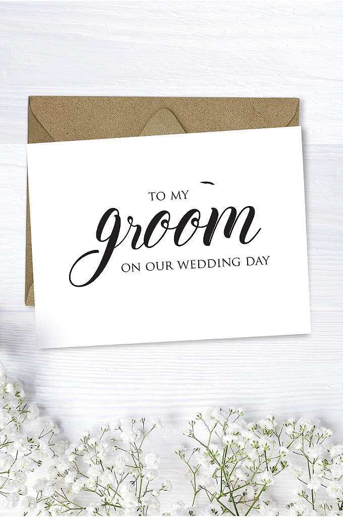 To My Groom Wedding Card - Write a note to your husband on this