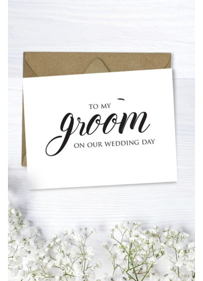 To My Groom Wedding Card - Wedding Gifts & Decorations