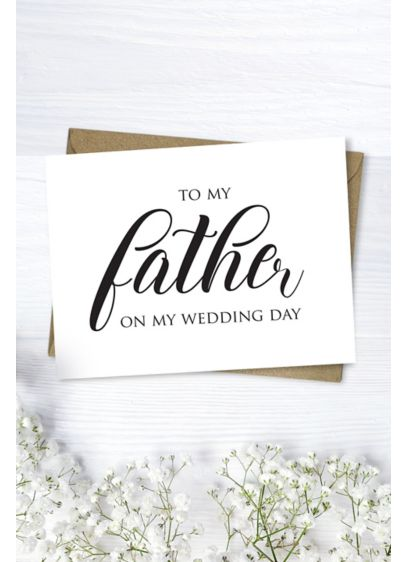 To My Father Wedding Card - Write a note to your dad on this