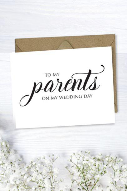 To My Parents Wedding Card David S Bridal