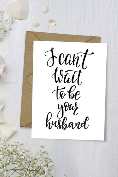 I Can T Wait To Be Your Husband Wedding Card David S Bridal