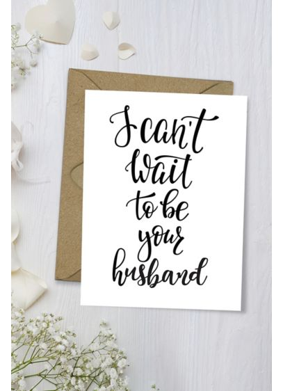 I Can't Wait to Be Your Husband Wedding Card - Wedding Gifts & Decorations