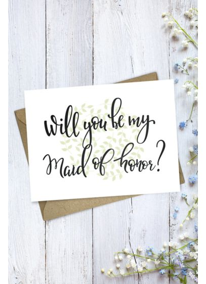 Will You Be My Maid of Honor Wedding Card - Wedding Gifts & Decorations