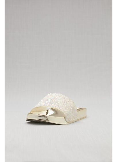 Bamboo White (Metallic Glitter Slides)