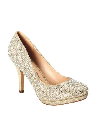 Blossom Beige (Pump with Allover Crystal Detail)
