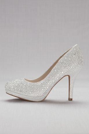 Blossom Beige;Grey Pumps (Pump with Allover Crystal Detail)