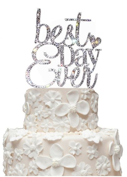 best wedding cake toppers ever rhinestone best day cake topper davids bridal 11703