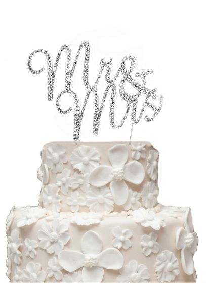 Rhinestone Mr and Mrs Cake Topper | David\'s Bridal