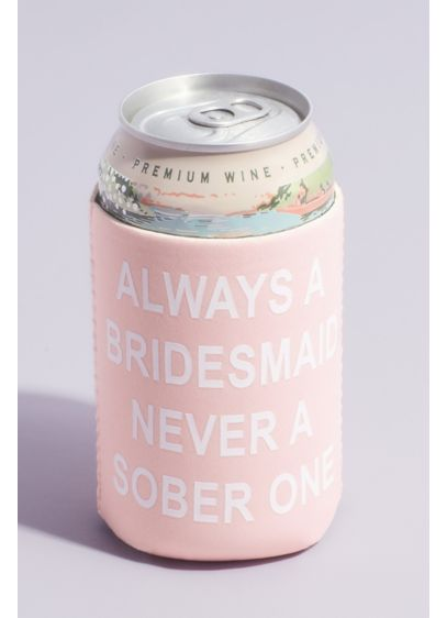 Pink (Always A Bridesmaid Neoprene Canned Drink Cooler)