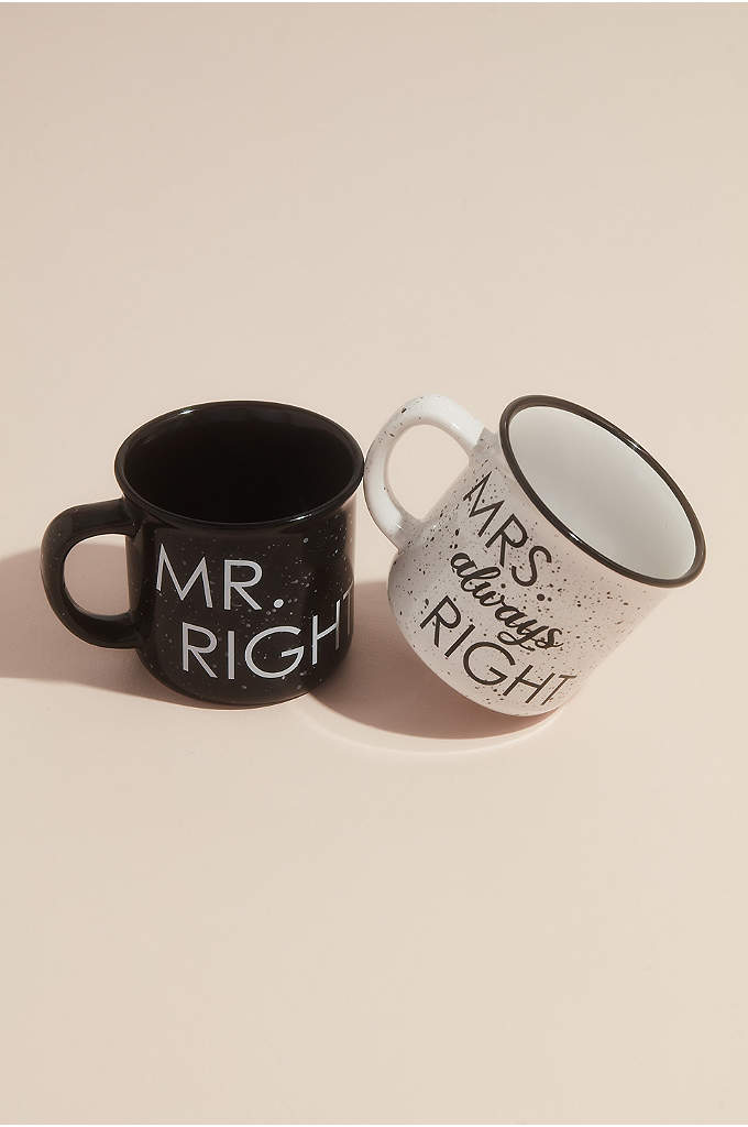 Mr Right and Mrs Always Right Campfire Mug Sets