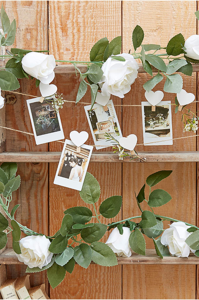 White Floral Garland - Add a gorgeous romantic feel to your day