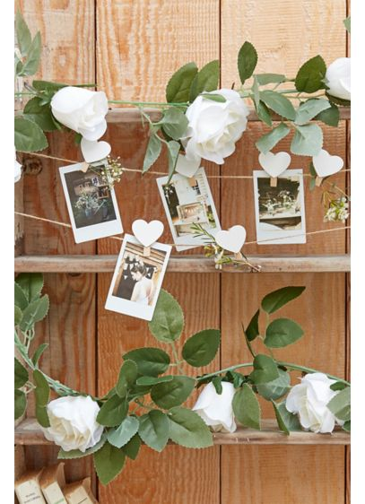 White Floral Garland - Wedding Gifts & Decorations