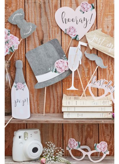 Wedding Photobooth Props - These photo booth props will have all your