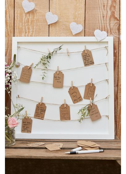 Pegs and String Frame Guestbook - A unique take on a classic wedding element,