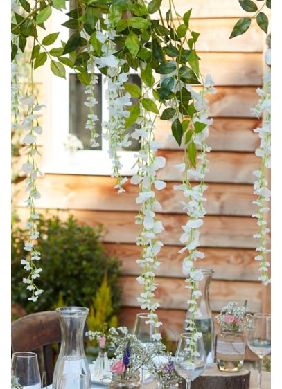 Faux Wisteria Decorative Garlands - These dreamy faux-wisteria vines will add a whimsical