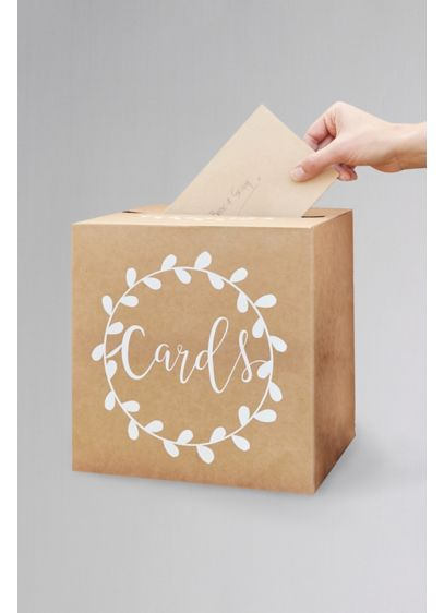 Kraft Card Holder Box - Make sure your guests know where to leave