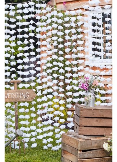 White Floral Backdrop - Wedding Gifts & Decorations