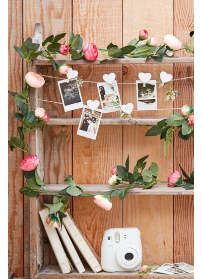 Faux Rose Decorative Garland - Add a pop of color and a dash