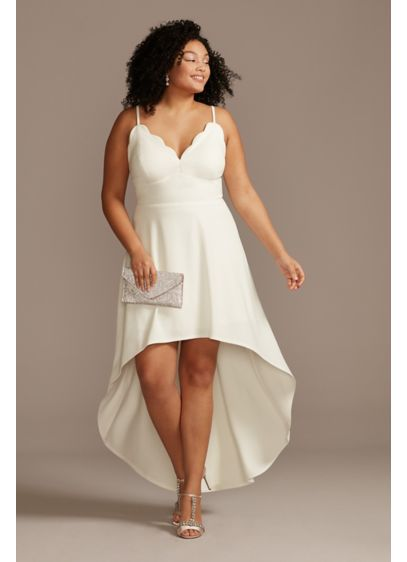 High Low A-Line Spaghetti Strap Bridal Shower Dress - Speechless