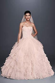 Pink wedding dresses gowns davids bridal long ballgown formal wedding dress oleg cassini junglespirit Choice Image