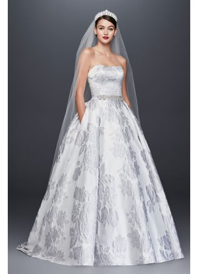 Floral Brocade Ball Gown Wedding Dress | David\'s Bridal