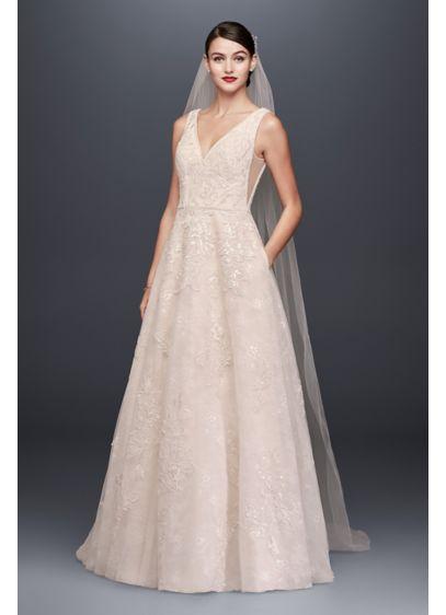 Long A Line Formal Wedding Dress Oleg Cini