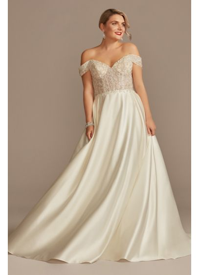 Long Ballgown Formal Wedding Dress - Oleg Cassini