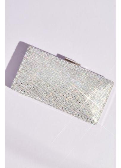 Chevron Stripes Crystal Box Clutch - Wedding Accessories