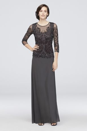 f7e8103af20 Long A-Line 3 4 Sleeves Cocktail and Party Dress - Pisarro Nights. Save
