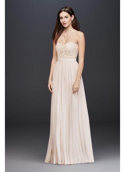 Long Sheath Beach Wedding Dress Soieblu
