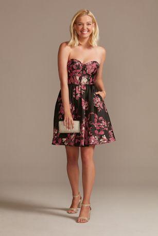 Short A-Line Strapless Dress - DB Studio