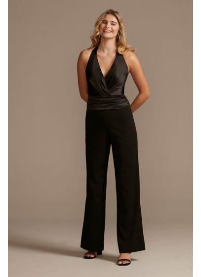 Long Jumpsuit Halter Bachelorette Party Dress - DB Studio
