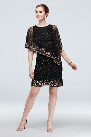 Short A-Line Capelet Dress - Pisarro Nights