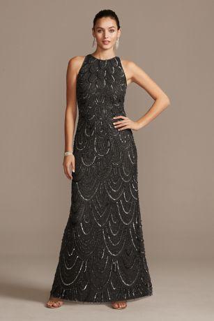 Long Sheath Halter Dress - Pisarro Nights
