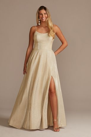 Long A-Line Spaghetti Strap Dress - Jules and Cleo