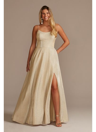 Long A-Line Spaghetti Strap Formal Dresses Dress - Jules and Cleo