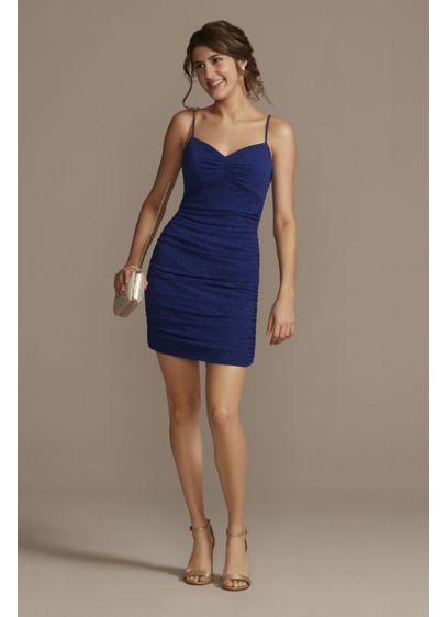 Short Sheath Spaghetti Strap Sweet 16 Dress -