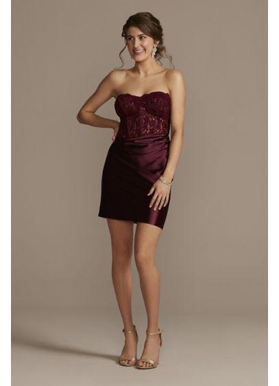 Short Sheath Strapless Sweet 16 Dress - Jules and Cleo