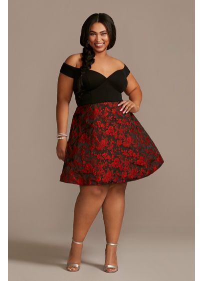 Short A-Line Off the Shoulder Holiday Dress - Jules and Cleo