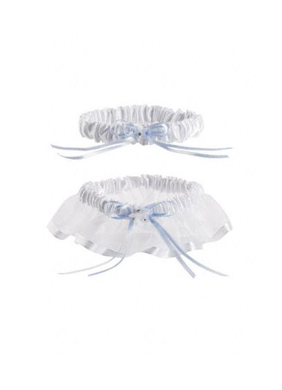 DB Exclusive Something Blue Organza Garter Set - Wedding Gifts & Decorations