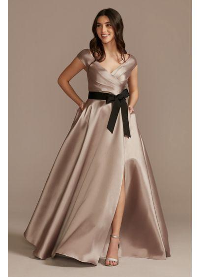 Long Ballgown Off the Shoulder Formal Dresses Dress - Oleg Cassini